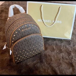 Michael Kors Abbey Framed Out Stud MD Backpack